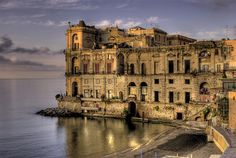 The Palazzo Donn Anna Campitello in Naples Oh The Places You'll Go, Great Places, Beautiful Places, Places To Visit, Rome Travel, Italy Travel, Naples Italy, Italy Italy, Photography Tours