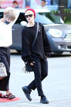 ❤️ 170922 Jimin @Arriving at KBS Studio for Music Bank ~❤️