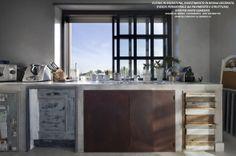 """www.studioadp21.it Arti Decorative PIANO CUCINA IN RESINA, DECORO IN FINTO CEMENTO. SPORTELLI CREATIVI DI: """"LA QUERCIA 21"""""""