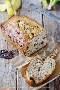 Banana bread (Cake aux bananes et pépites de chocolat)