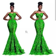 Stunning green lace dress