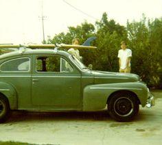 Dan & David Parker, single fin log & Volvo pre-surf