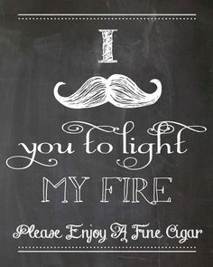 INSTANT DOWNLOAD -- Chalkboard Printable Cigar Bar Sign