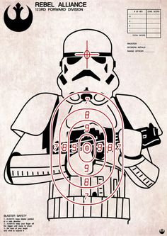 Storm Trooper Target Print