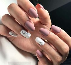 """If you're unfamiliar with nail trends and you hear the words """"coffin nails,"""" what comes to mind? It's not nails with coffins drawn on them. It's long nails with a square tip, and the look has. Cute Acrylic Nails, Matte Nails, Pink Nails, Purple Nail, Matte Pink, Autumn Nails Acrylic, Squoval Acrylic Nails, Blush Nails, Pastel Nail"""