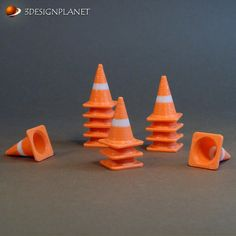 Download on https://cults3d.com #3Dprinting #Impression3D 3D printed Traffic cone, 3designplanet