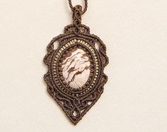 Collar Macrame con Cebra Jasper (piedra natural)