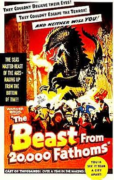 Beast from 20,000 Fathoms -- another Ray Harryhausen masterpiece of stop-motion animation.