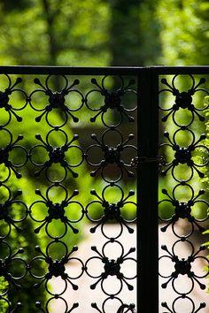Poppy styled and designed wrought iron garden gate. Garden Doors, Garden Fencing, Garden Art, Home And Garden, Iron Garden Gates, Metal Gates, Iron Gates, Metal Fence, Modern Garden Design