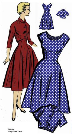 Rockabilly bombshell dress and bolaro pattern by PattysPastTimes, $18.00