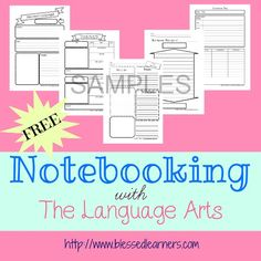 Notebooking wirh The Language Arts Sample Freebies