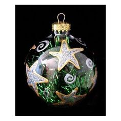 $19.95-$40.25 Hand Painted - Large Heavy Glass Ornament - 3.5 inch diameter   -   Our Outrageous Ornaments make memorable Christmas gifts, some of them decorate the Christmas trees in the White House!  They also can be given to a loved one as a keepsake on a special occasion.  Bellissimo! has dazzling designs for almost any occasion.  Our ornaments are all exquisitely hand painted using our spec ...