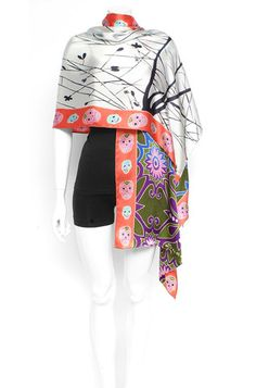 Hand Painted Silk Scarf VII, Click here! http://www.arturbane.com/collections/creative-fashion-accessories/products/hand-painted-silk-scarf-vii #fashion #scarves #art $195