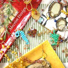 Bijuterias artesanais, exclusivas, feitas com todo carinho para você, por AlecrimDesign em Etsy - Brasil