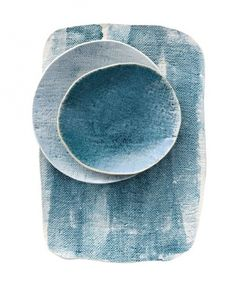 Handmade porcelain and stoneware ceramics by Michele Michael. Ceramic Clay, Ceramic Plates, Ceramic Pottery, Assiette Design, Paperclay, Cool Ideas, Ceramic Design, Plates And Bowls, Blue Plates