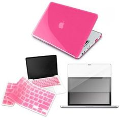 Pink laptop cover with pink keyboard cover
