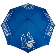 NCAA Duke Blue Devils 62-Inch WindSheer Hybrid Umbrella by Team Effort. $39.95. Designed with four single canopy panels and four double canopy panels, the innovative WindSheer Hybrid Umbrella combines the technology of our patented Wind-Release System with oversized logo enhancements offered by a single canopy umbrella