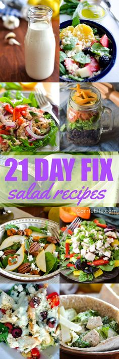If you're on the 21 Day Fix – either completely on-board or just following the eating plan – you are probably eating lots of salads. Maybe it's just me, but I find salads to be a great way to get in a