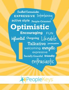 """Friendly and outgoing are words that describe the """"I"""" personality style"""