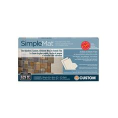 The quickest, easiest, and cleanest way to install tile on countertops, backsplashes and shower walls. SimpleMat replaces traditional thinset mortar or mastic adhesive. The adhesive retains its bonding strength for extended periods of time, which means users have the flexibility to tile onto the mat an hour at a time or over several days. SimpleMat bonds instantly so you can start grouting immediately.