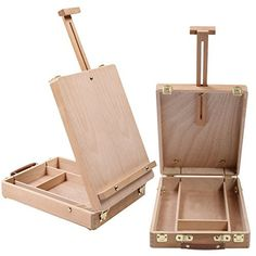 Art Drawing Painting Supply Desktop Table Easel Wooden Sketch Box Portable Adjustable Angle - Canada Scrapbooking