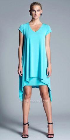 Irina V-Neck Shift Dress by Julian Chang