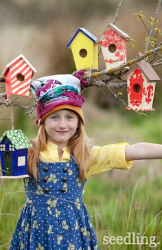 Give back to nature with this wonderful paint your own bird house craft! Such a fun outdoor activity for kids! Get yours today at www.seedling.com