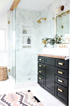 It's One Room Challenge reveal day and I'm so excited to share that our master bathroom is finally done! It was a crazy dash to the end and, as you might have seen on my Instagram stories, more than once I thought we might not make it. Over the past six weeks we pulled so.dang.many late nights building,...Read More »