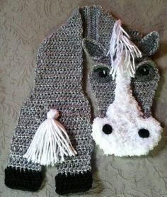 Crochet Horse Scarf Crochet Clothing / Scarves ...