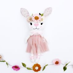 Excited to share this item from my shop: Ready to ship Edith bunny doll Alice In Wonderland Dress, Wonderland Costumes, Dead Bride, Bride Of Frankenstein, Girls Dress Up, Girl Costumes, Felt Flowers, Flower Crown, Rose