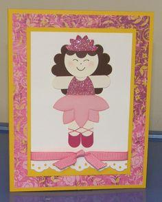 princess ballerina card...punch art