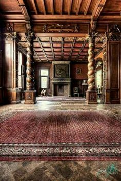 Just look at the craftsmanship in this abandoned manor!