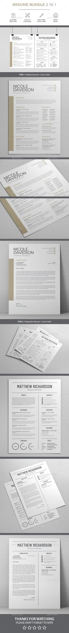 Clean & Modern Resume/cv template to help you land that great job. The flexible page designs are easy to use and customize, so you can quickly tailor-make your resume for any opportunity. Indesign Resume Template, One Page Resume Template, Sample Resume Templates, Modern Resume Template, Resume Design Template, Creative Resume Templates, Print Templates, Cv Template, Resume Words