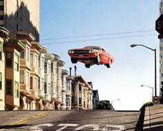 Matthew Porter's Images of Flying Muscle Cars on mashKULTURE.net