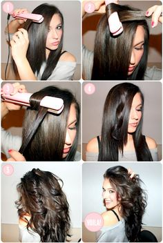 New hair tutorial blowout beauty 20 Ideas Curled Hairstyles, Diy Hairstyles, Pretty Hairstyles, Wave Hairstyle, Flat Iron Hairstyles, Hairstyle Tutorials, Style Hairstyle, Latest Hairstyles, Celebrity Hairstyles