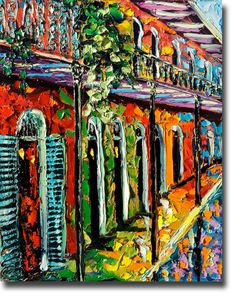 NEW ORLEANS Painting B. Sasik Original Oil  Painting of by bsasik, $260.00