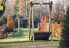 wood zip line pole anchor guy wire cable ground support