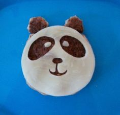 Turn a burger into a panda bear for a protein-packed lunch.