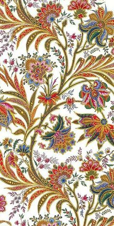 Gilded Jacobean patterned Christmas paper from Italy ~ perfect for decoupage, book binding or crafts: