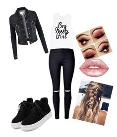 """Day"" by samantha-cats on Polyvore featuring LE3NO and Lime Crime"
