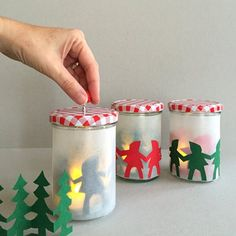 Decorate your home this holiday with these sweet little ribambelle lanterns.
