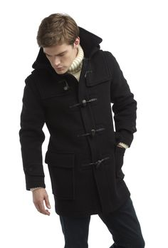 Mens London Duffle Coat -- Navy - Mens Classic Duffle Coat by Original  Montgomery Made in Britain f34ac53a5ade1