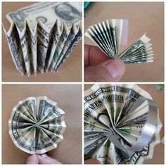 Make an simple graduation lei and give money too! Easy Accordion Fold Money Flower Candy Lei tutorial and how to jazz up a regular candy lei. Origami Rose, Origami Money Flowers, Diy Origami, Origami Paper, Diy Graduation Gifts, Graduation Leis, Money Lay For Graduation, Graduation Gift Baskets, Graduation Pictures