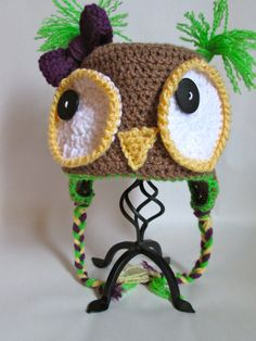 Baby Crochet Owl Hat Made to Order by ElleYarnCreations on Etsy, $18.00  Now 25% off with coupon code OPEN20