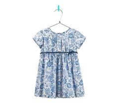 Imagen 1 de vestido estampado flores con lazo de Zara