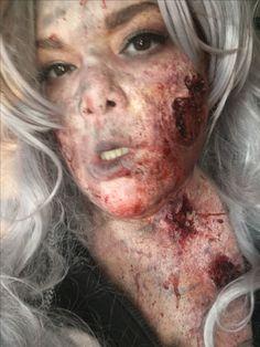 Zombie victim makeup by me Horror Makeup, Scary Makeup