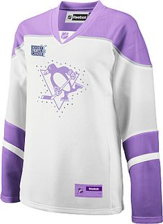 Hockey fights cancer Pittsburgh Penguins jersey
