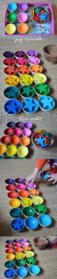 Youpi Mercredi #13 : les nuances 2/3 Montessori Color, Montessori Homeschool, Montessori Classroom, Montessori Toddler, Maria Montessori, Montessori Materials, Montessori Activities, Color Activities, Infant Activities
