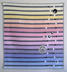 Modern Baby Quilt Pastel Ombre Stripes by TheDancingQuilt on Etsy