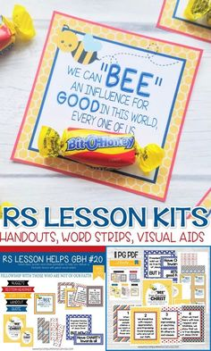 Relief Society Lesson Printables - cute printable kits full of visual aides and a darling handout! GBH Lesson 20, fellowshipping #mycomputerismycanvas